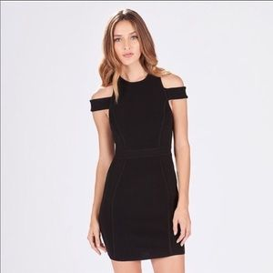 Parker black boomerang knit dress